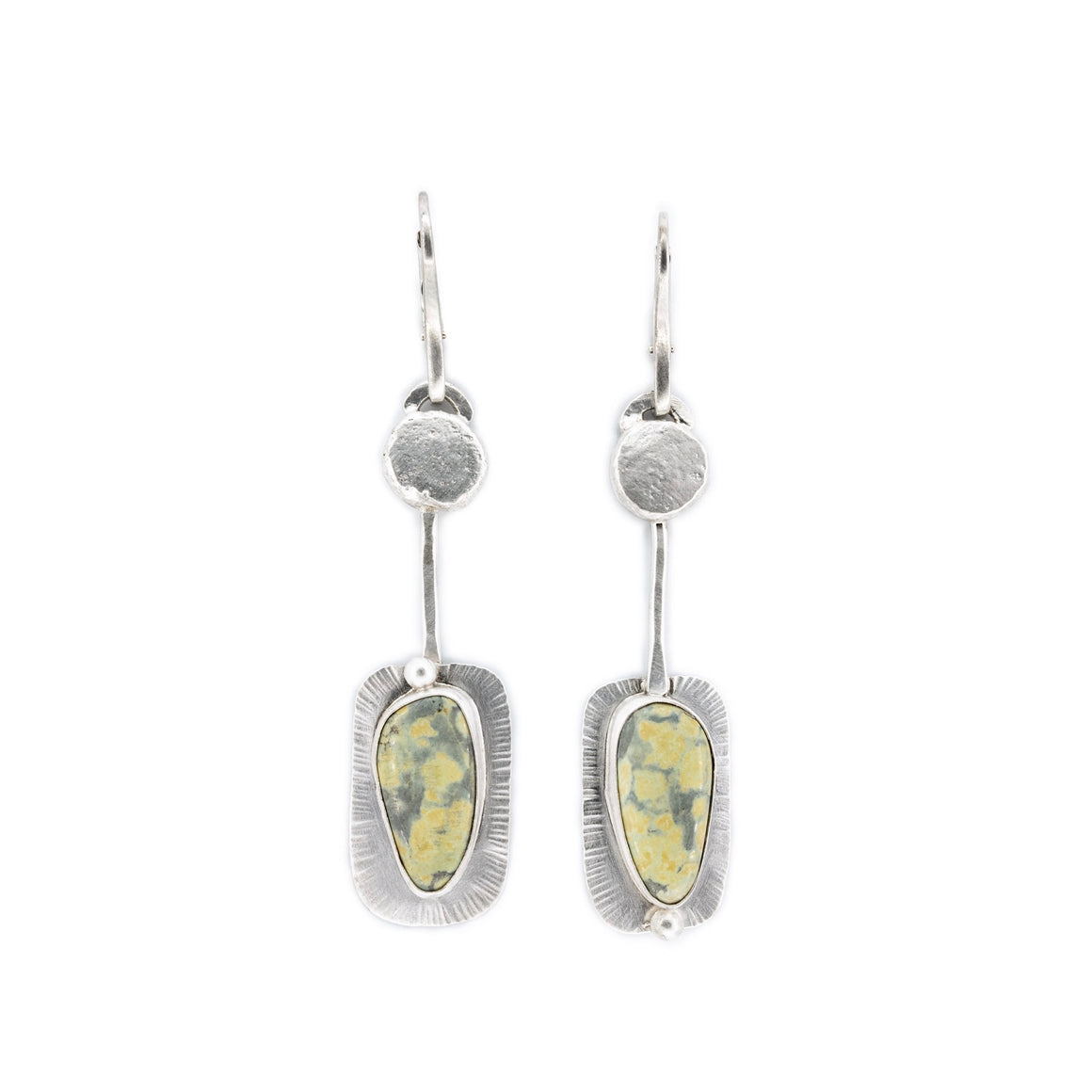 Tree Frog Variscite Leverback Earrings by Original Sin Jewelry