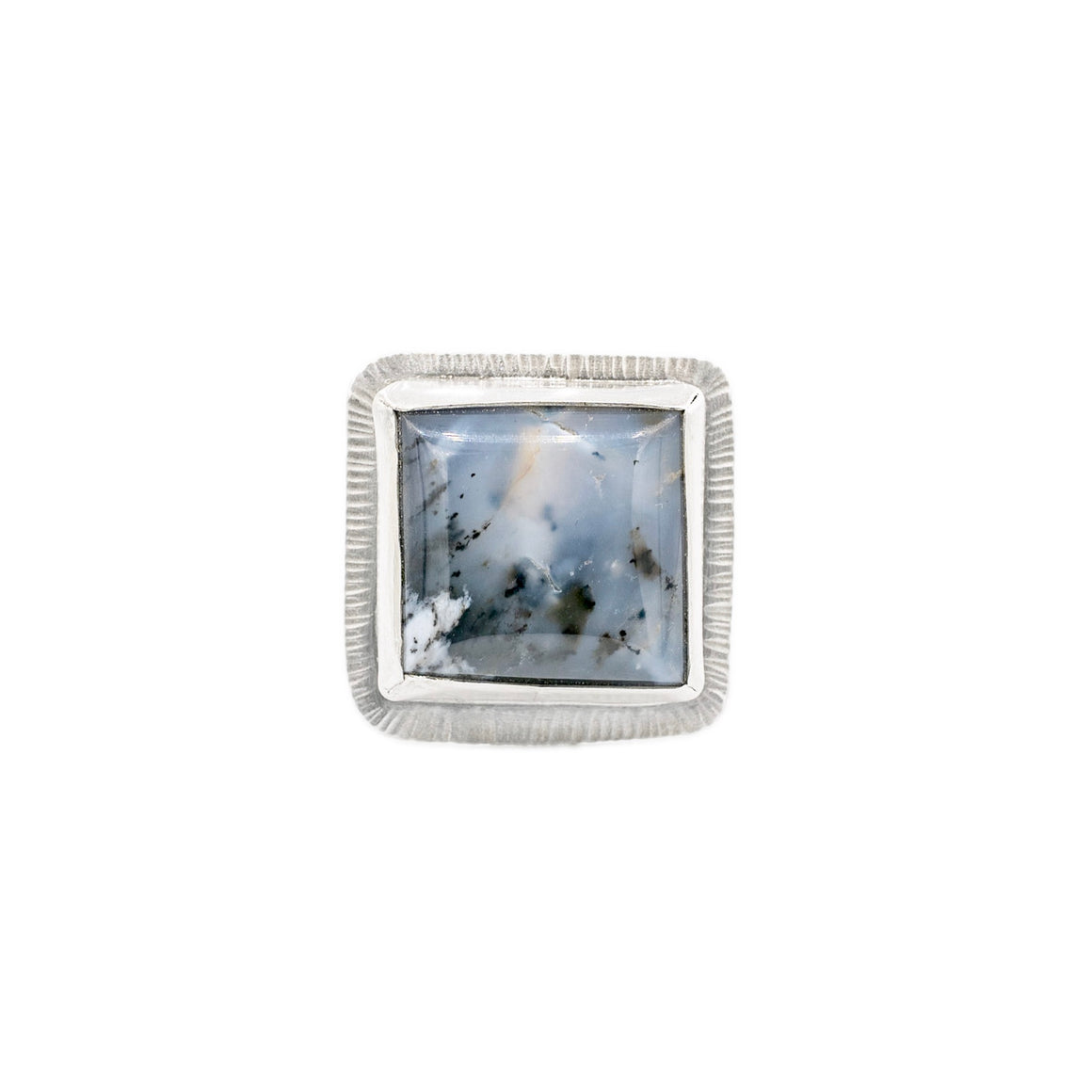 Dendritic Agate Fine Silver woven Adjustable Ring by Margaret at Original Sin Jewelry