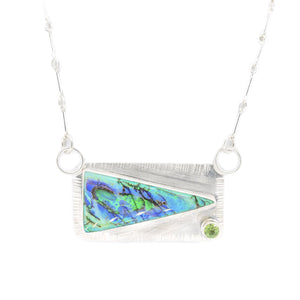 Opal and Tourmaline Silver Necklace by Original Sin Jewelry