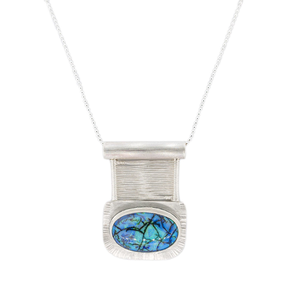 Original Sin Jewelry Monarch Opal Bridge Pendant on Silver Chain