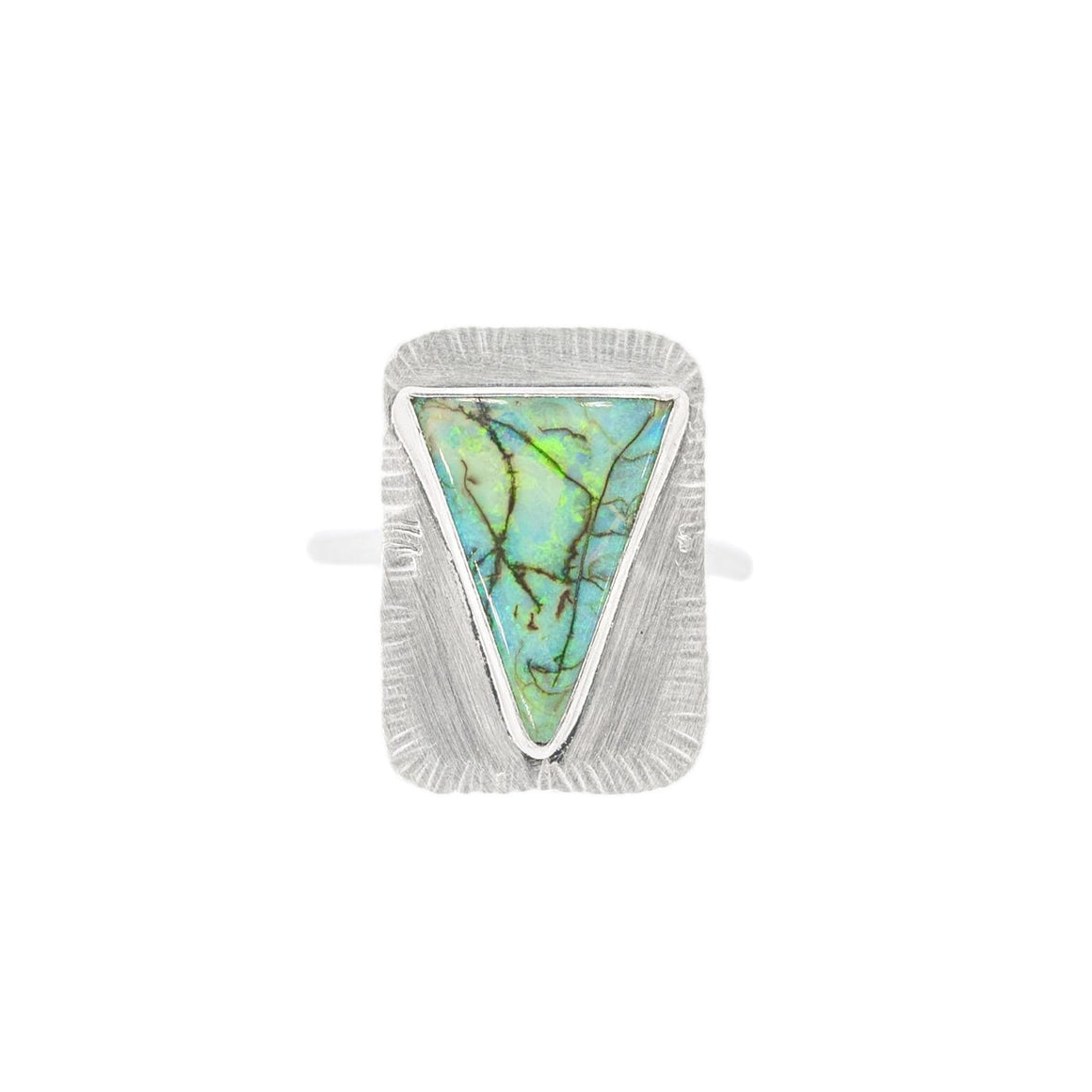 Modern Opal Ring in Silver by Original Sin Jewelry