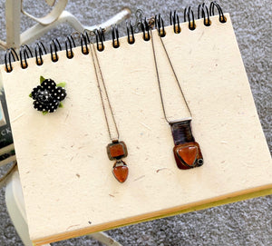 Fire opal necklaces