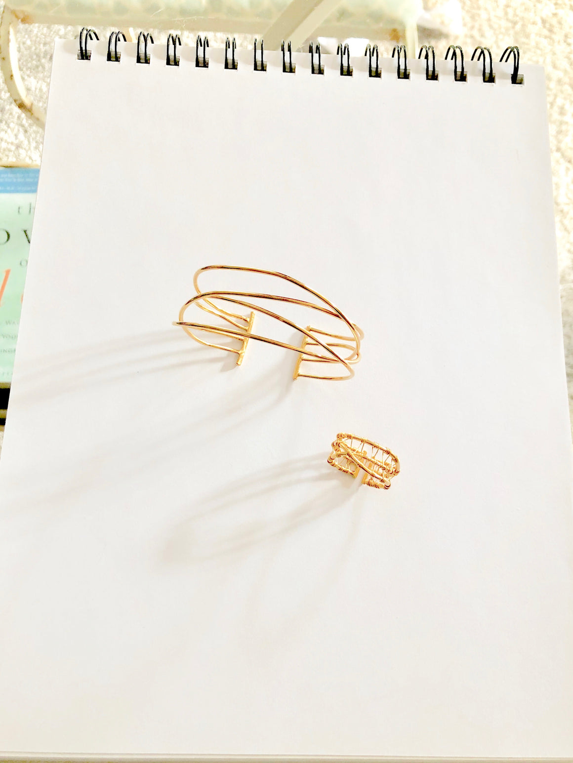 24k Gold Vermeil Nest Bracelet and Woven Nest Ring by OSJ