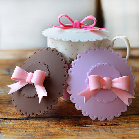 Cute Cup Cover Bowknot
