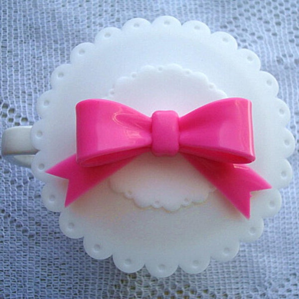Cute Cup Cover Bowknot White