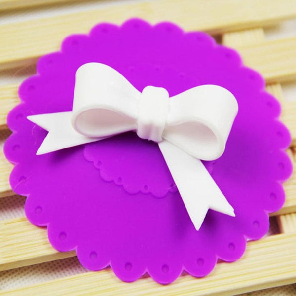 Cute Cup Cover Bowknot Purple