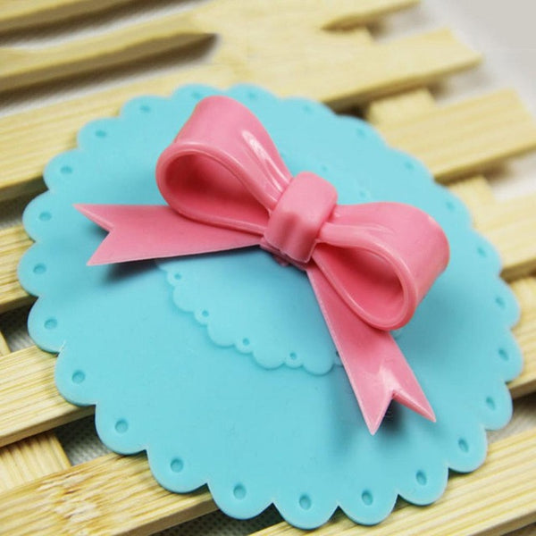 Cute Cup Cover Bowknot Light Blue