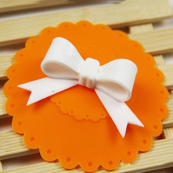 Cute Cup Cover Bowknot Orange