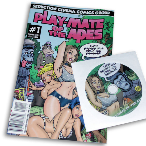Play-Mate of the Apes (Comic Book / DVD Combo)