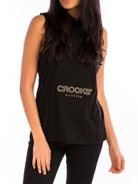 Crooks&castles fugitive ladies sleeveless hoodie