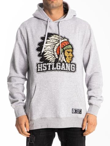 The hustle Gang Fractured Chief Pullover Hoodie