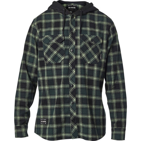 Fox Avalon Hooded Flannel Shirt