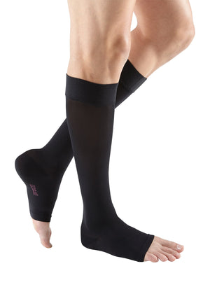 mediven plus, 30-40 mmHg, calf with silicone topband, Open Toe