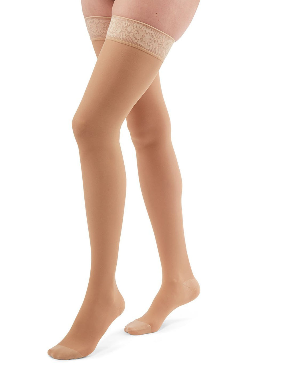 duomed transparent, 15-20 mmHg, Thigh High, Closed Toe