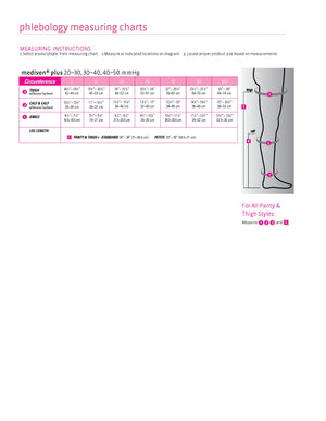 mediven plus, 30-40 mmHg, Thigh High W/ Silicone Top-Band, Closed Toe