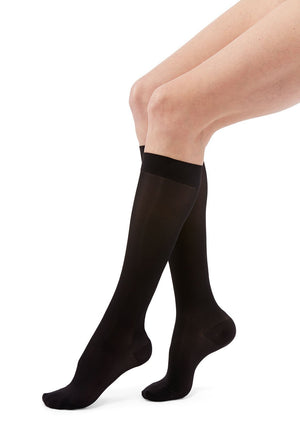 duomed transparent, 15-20 mmHg, Calf High, Closed Toe