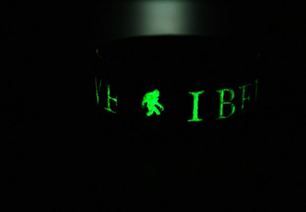 Glow in the Dark Bigfoot Wristband