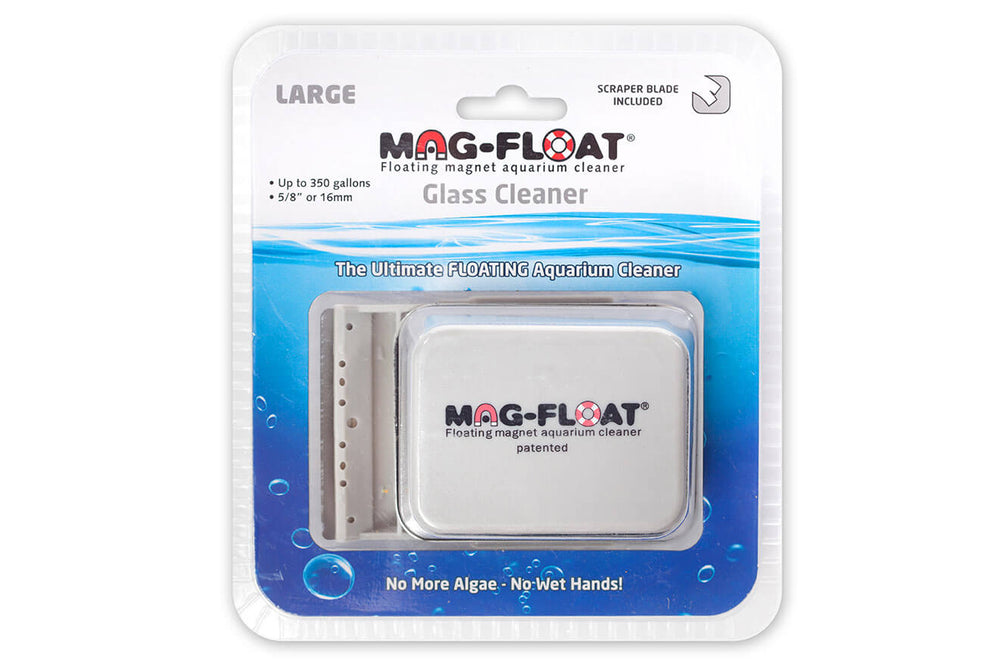 Mag-Float Magnetic Glass Cleaner Large (Up to 350 Gallons) w/Scraper