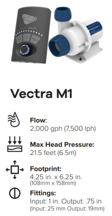 Vectra M1 DC Pump 2000GPH