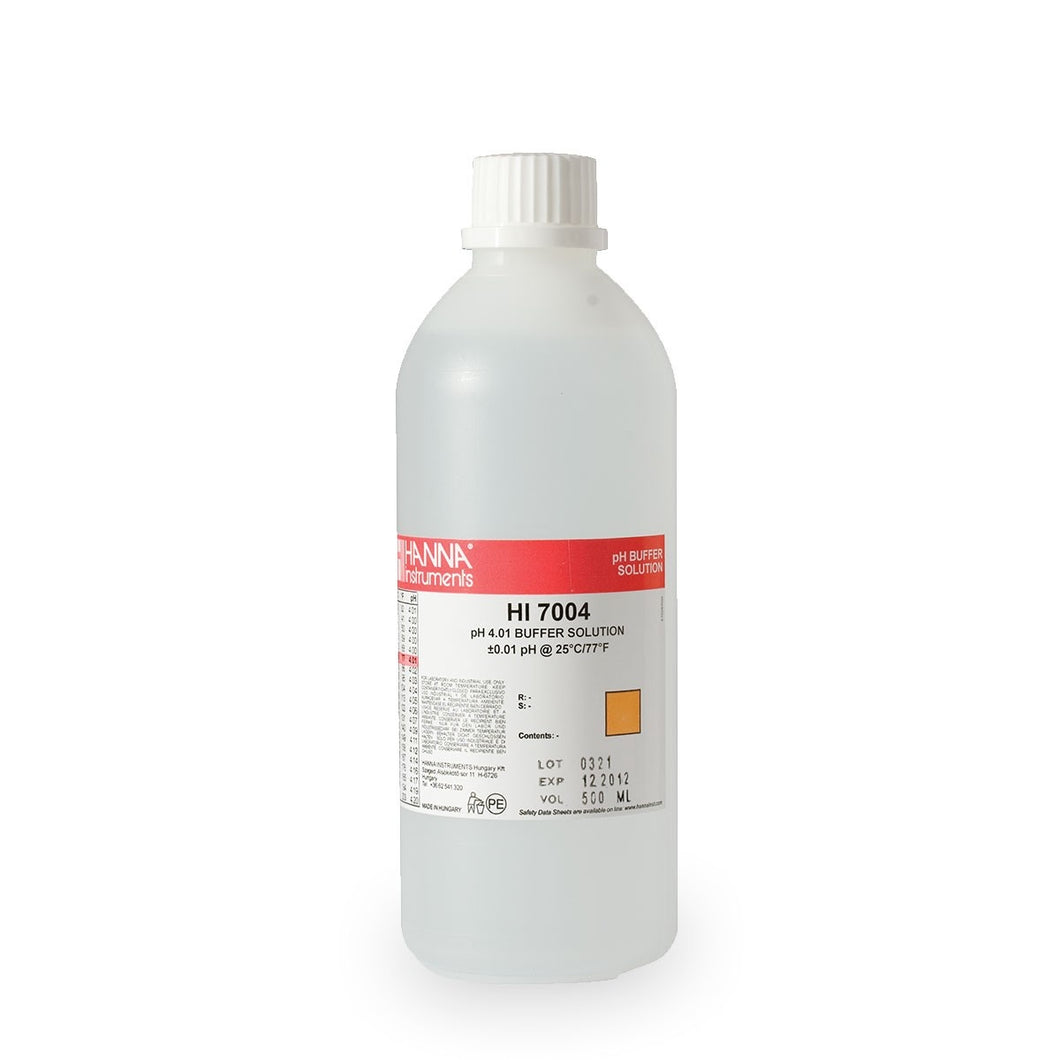 HI7004L 500ML BOTTLE PH 4.01 CALIBRATION SOLUTION