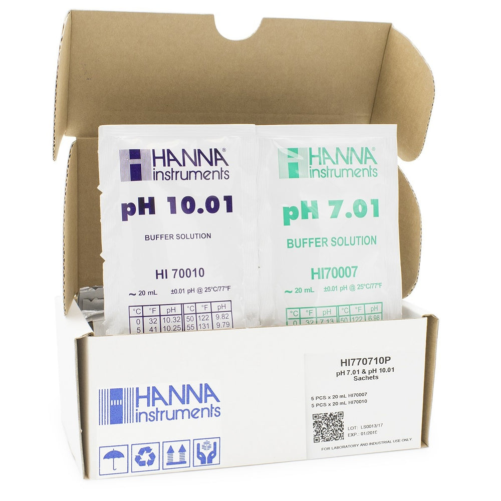 HI770710P PH 7.01 AND 10.01 SACHETS (5 Each X 20ML)