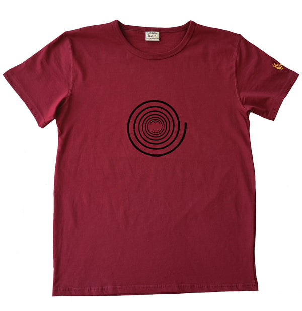 Spirale simple - T-shirt homme bio Sambalou couleur rouge 2020