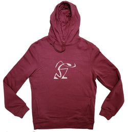 Sweat à capuche bio - hoodies Sambalou -  marcheur - bordeaux
