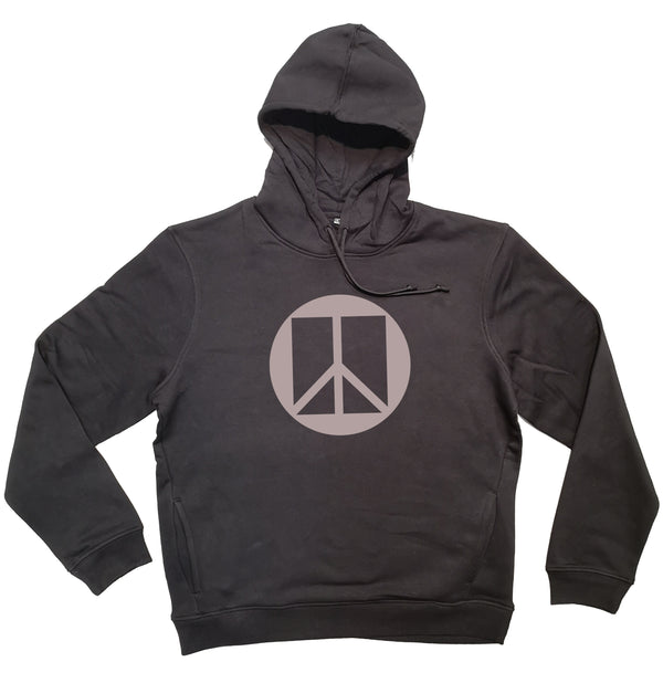 Sweat capuche homme bio Sambalou couleur noir peace and love