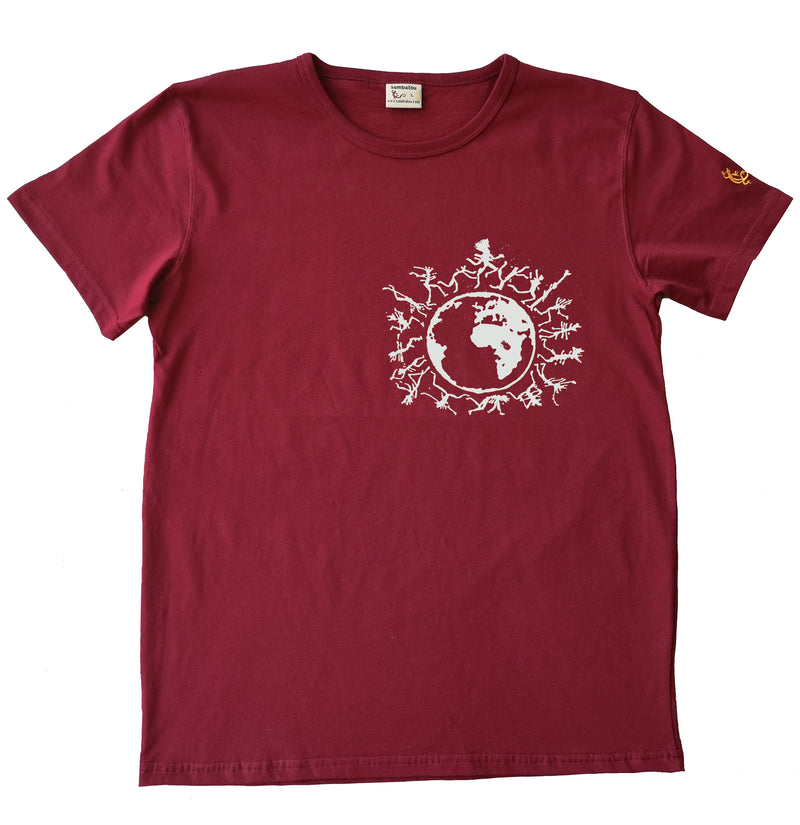 one people blanc - T-shirt homme rouge 2020