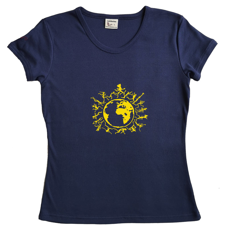 "T-shirt femme BIO col rond "" One people """