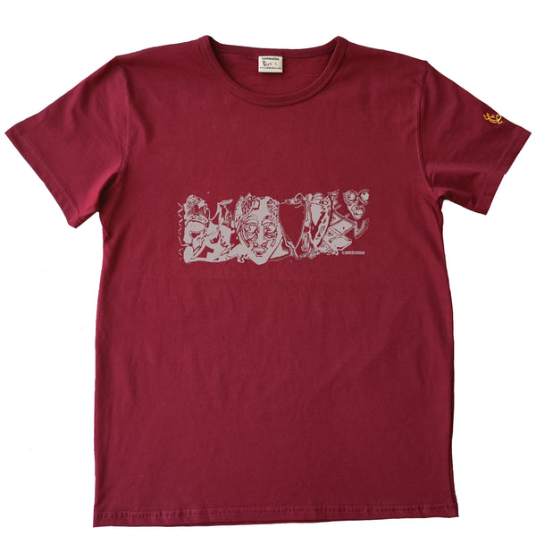 panoramasques blanc - T-shirt homme rouge 2020