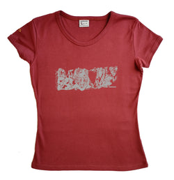 panoramasques blanc - t-shirt femme roxanne couleur rouge ketshup