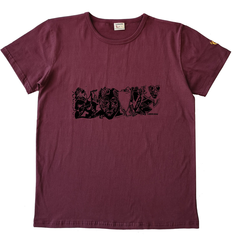 panoramasques noir - T-shirt homme rouge bordeau2 ok