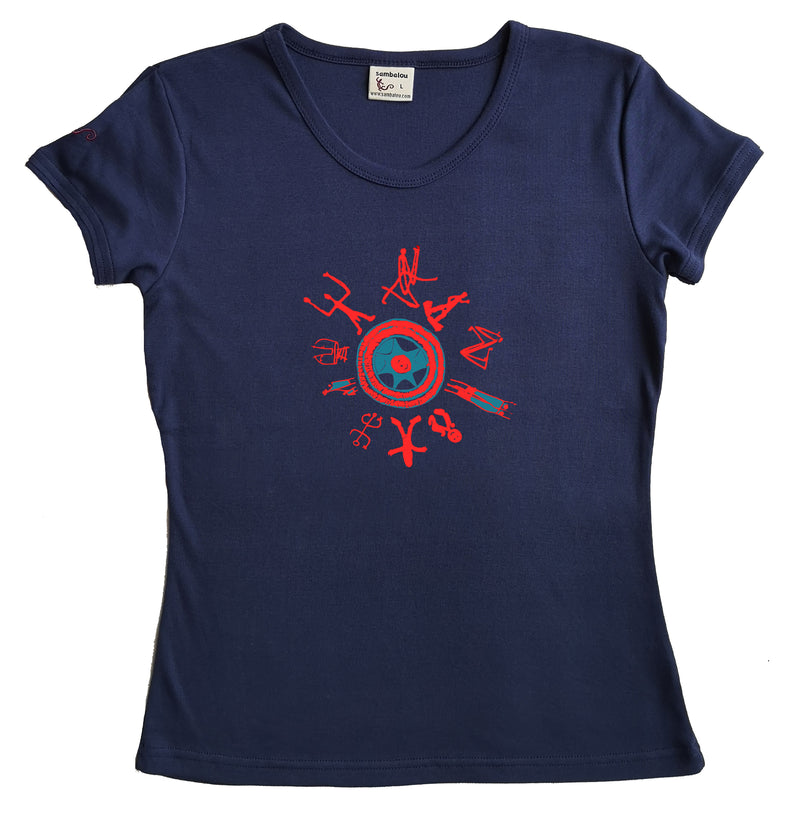 "T-shirt femme BIO col rond "" One love """
