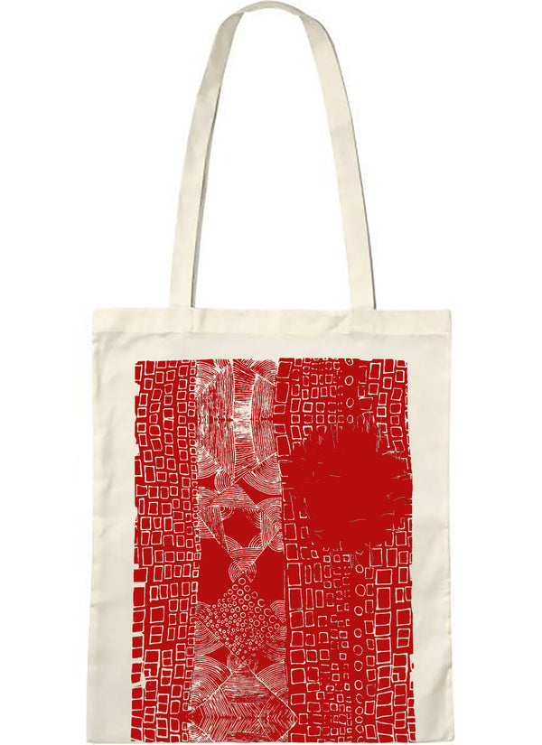 "Tote bag bio sambalou "" Alice "" rouge"