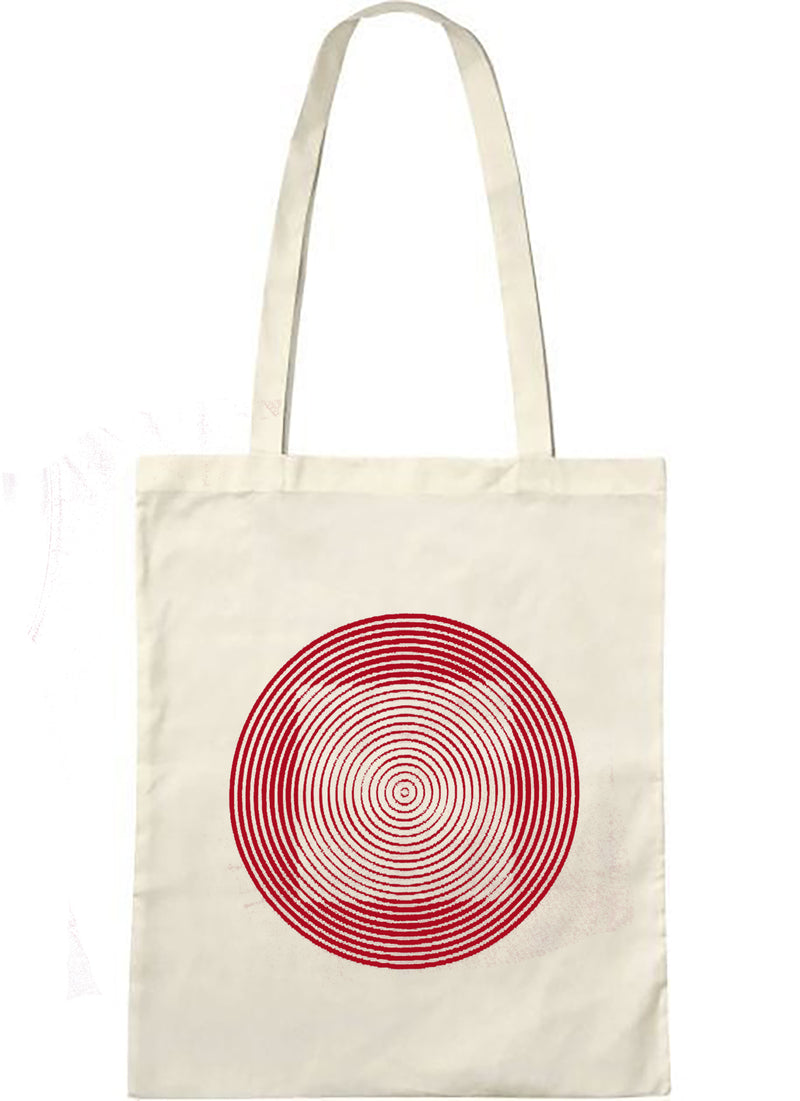 "Tote bag bio sambalou "" illusquar "" rouge"