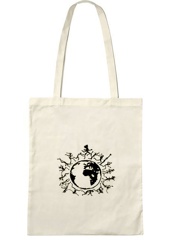 "Tote bag bio sambalou "" one people "" noir"
