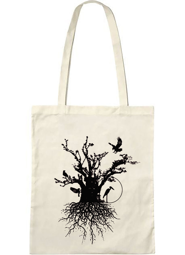 tote bag naturel baobab habité noir