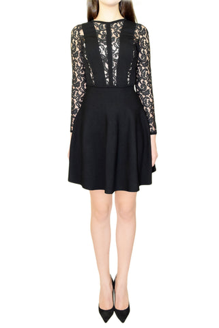 Blumarine Silk Jersey Lace Dress