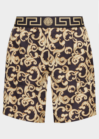 Versace Baroque Long Swim Shorts