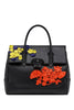 Versace Flower Appliques Palazzo Empire Bag
