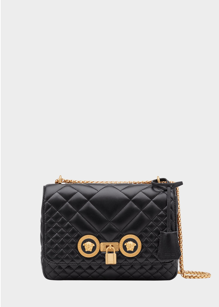 d7c53a00c37a Versace Medium Quilted Icon Shoulder Bag