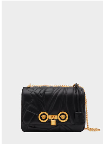 Versace Medium Quilted Logo Icon Shoulder Bag