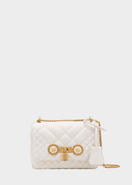 Versace Small Quilted Icon Shoulder Bag