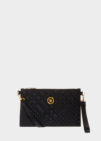 Versace Quilted Leather Pouch