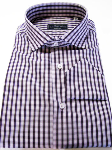 Sartorial classic fit shirt in striped pattern handmade by crafted artisans in Italy.