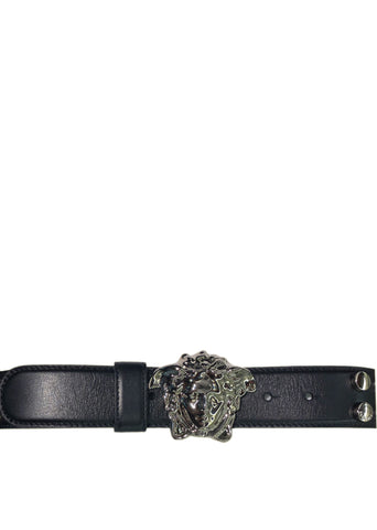 Versace Studded Belt with Medusa Buckle