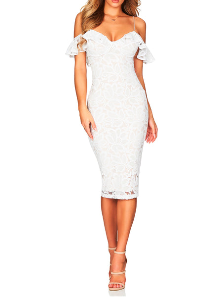 Luna Lace Midi Dress