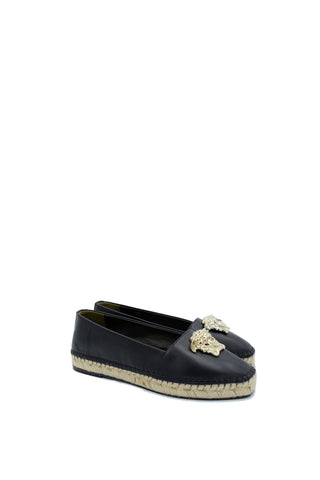 Versace Palazzo Leather Espadrilles