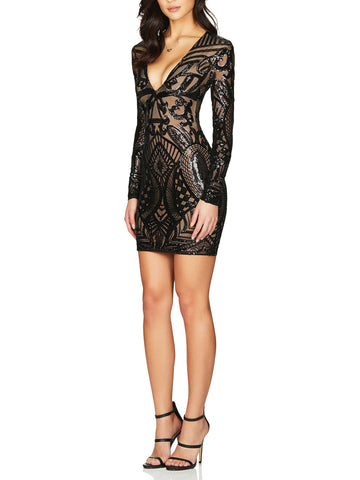 Mon Cherie Sequin Mini Dress